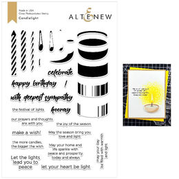 Altenew Clear Stamps - Candlelight Stamp Set - ALT2682