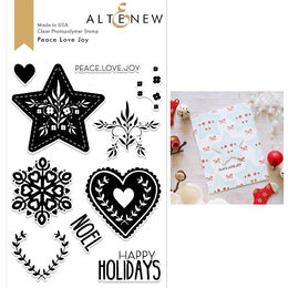 Altenew Clear Stamps - Peace Love Joy Stamp Set - ALT2686