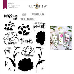 Altenew Clear Stamps - Playful Blooms Stamp Set - ALT2692
