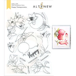 Altenew Clear Stamps - Happy Pomegranates ALT3486
