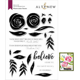 Altenew Clear Stamps - Watercolor Roses ALT3729