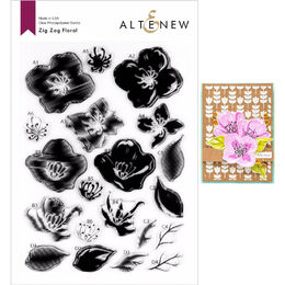 Altenew Clear Stamps - Zig Zag Floral ALT4029
