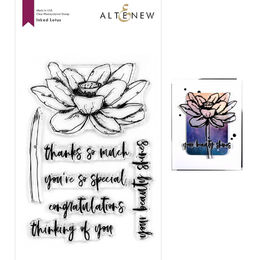 Altenew Clear Stamps - Inked Lotus ALT4124