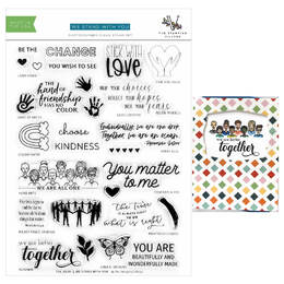 The Stamping Village - We Stand With You - Collaborative Stamps Set