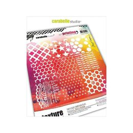 Carabelle Studio Art Printing Square Rubber Texture Plate - Nine Square Textures APCA0026