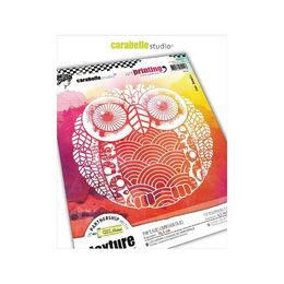 Carabelle Studio Art Printing Round Rubber Texture Plate - Owl APRO0019