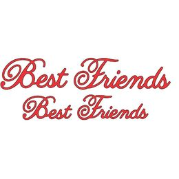 Cheery Lynn Designs Dies - Best friends B247