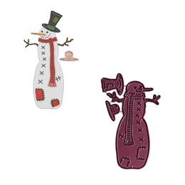Cheery Lynn Designs Dies - Patches the Snowman (3 pcs) B908
