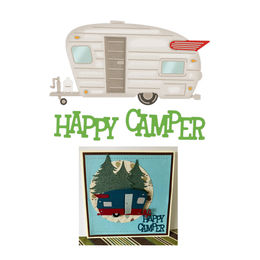 Cheery Lynn Designs Dies - Happy Camper (3 pcs) B940