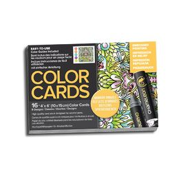 Chameleon Embossed Colour Cards - Mirror Images Color Cards CC0106UK(AU)