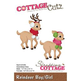CottageCutz Dies - Reindeer Boy/Girl CC180