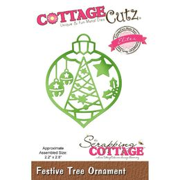 "CottageCutz Dies - Festive Tree Ornament 2.2""X2.8"" (Elites) CCE512"