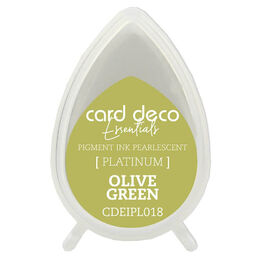 Couture Creations Card Deco Essentials Fast-Drying Pigment Ink Pearlescent - Olive Green CDEIPL018
