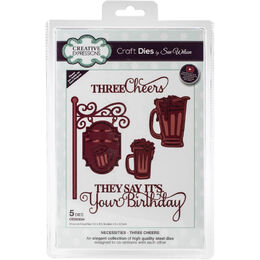 Creative Expressions Craft Dies - Necessities- Three Cheers (By Sue Wilson) CED23034