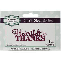 Creative Expressions Craft Dies Mini Expressions - Heartfelt Thanks (By Sue Wilson) CEDME045