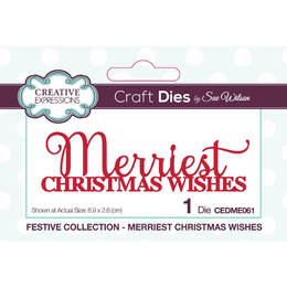Creative Expressions Craft Dies - Merriest Christmas Wishes (By Sue Wilson)