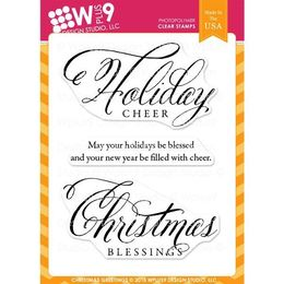 WPlus9 Design Stamps - Christmas Greetings CL-WP9CG