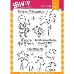 WPlus9 Design Stamps - Drummer Boy CL-WP9DRBO