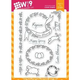 WPlus9 Design stamps - Easter Blessings