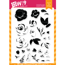 WPlus9 Design Stamps - Freehand Florals CL-WP9FHFL
