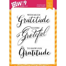 WPlus9 Design Stamps - Grateful Greetings CL-WP9GG