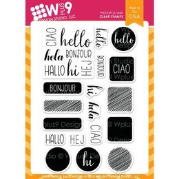 WPlus9 Design Stamps - Greetings & Salutations CL-WP9G&S