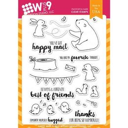 WPlus9 Design Stamps - Happy Mail CL-WP9HAMA