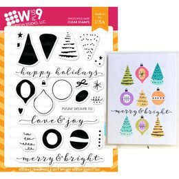 WPlus9 Design Stamps - Holiday Trimmings CL-WP9HT