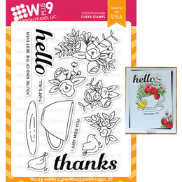 WPlus9 Design Stamps - Hello & Thanks CL-WP9HeTh