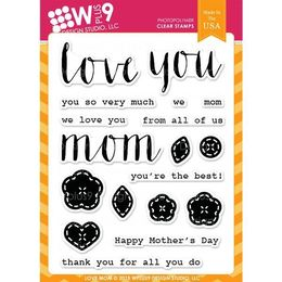 WPlus9 Design Stamps - Love Mom CL-WP9LM