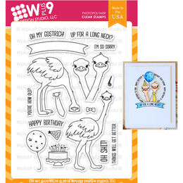 WPlus9 Design Stamps - Oh My Gostrich! CL-WP9OMG