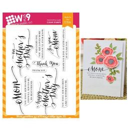 WPlus9 Design stamps - Strictly Sentiments 4