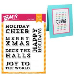 WPlus9 Design stamps - Strictly Sentiments 6