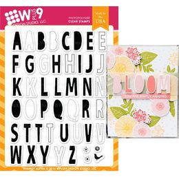 WPlus9 Design Stamps - WHIMSY ALPHA CL-WP9WAL