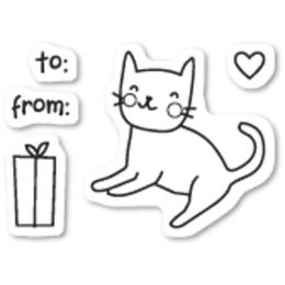 Poppystamps - Clear Stamps - KITTY CAT GIFT CL437