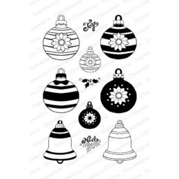 Impression Obsession Stamps - Vintage Ornaments CL790