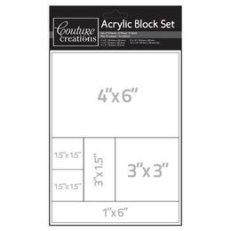 Couture Creations - Acrylic Block Set for Cling Stamps - CO721951