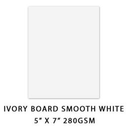 Couture Creations - 5 x 7 Smooth White Ivory Board 280gsm (20 pcs per pack) CO723861-20