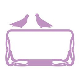 Couture Creations Dies  - Secret Garden Collection - Pigeons on a Frame CO724264