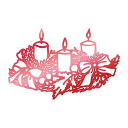 Couture Creations - Let Everyday Be Christmas Collection Hotfoil Stamps - Wreathed Candles CO725525