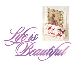 Couture Creations - Everyday Sentiments Collection Hotfoil Stamps - Life is Beautiful CO725830