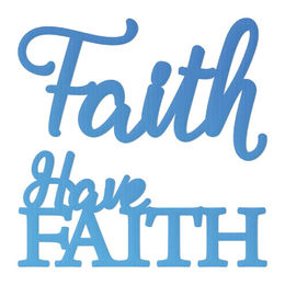 Couture Creations Mini Dies - Have Faith Sentiment (2pc) CO726110