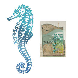 Couture Creations - Seaside & Me Collection Hot Foil Stamps - Seahorse (1pc) CO726180