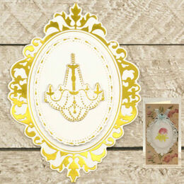 Couture Creations Cut, Foil & Emboss - Decorative Nesting Chandelier Frames - Modern Essentials