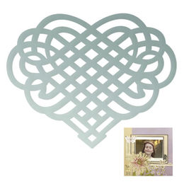 Couture Creations Mini Dies - Butterfly Garden - Woven Heart (approx. 48x48mm) CO726541