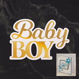 Couture Creations Mini Cut, Foil & Emboss - Dazzlia - Baby Boy Sentiment (1pc) CO726714
