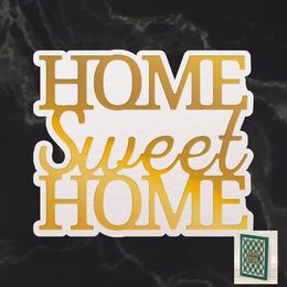 Couture Creations Mini Cut, Foil & Emboss - Dazzlia - Home Sweet Home Sentiment (1pc) CO726728