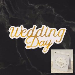 Couture Creations Mini Cut, Foil & Emboss - Dazzlia - Wedding Day Sentiment (1pc) CO726730
