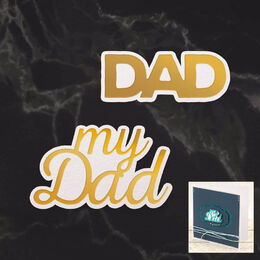 Couture Creations Mini Cut, Foil & Emboss - Dazzlia - My Dad Sentiment (2pc) CO726731