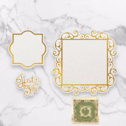 Cut, Foil and Emboss Decorative Nesting Die - Just For You Frames (132.2 x 132.2mm)